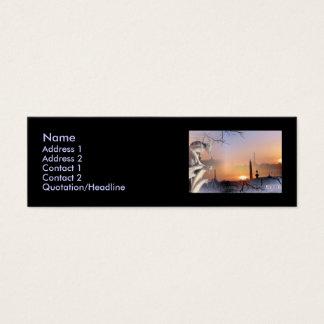 Gargoyle de plata, plantilla tarjeta de visita mini