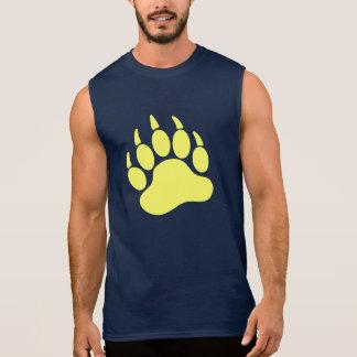 Garra de oso amarilla del orgullo del oso (l) camiseta sin mangas