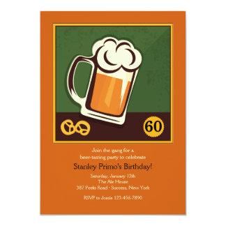Garrafa de la invitación de la cerveza invitación 12,7 x 17,8 cm