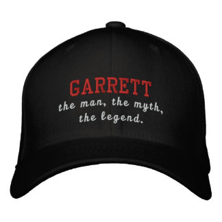 Garrett el hombre, el mito, la leyenda gorra de béisbol bordada