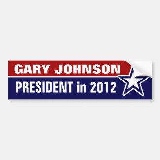 Gary Johnson en 2012 Etiqueta De Parachoque