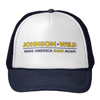Gary Johnson/gorra sano del libertario de América Gorro De Camionero