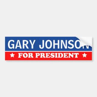 Gary Johnson para el presidente 2016 Pegatina Para Coche