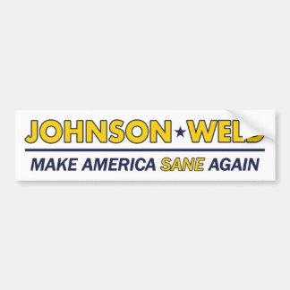 Gary Johnson/pegatina para el parachoques del Pegatina Para Coche