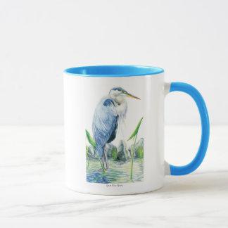 Garza de gran azul taza