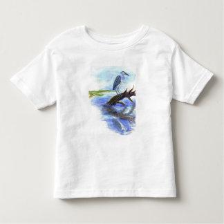 Garza Meditating - lápiz de la acuarela Camiseta De Bebé