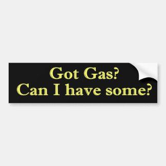 ¿Gas conseguido? ¿Puedo tener alguno? Pegatina Para Coche