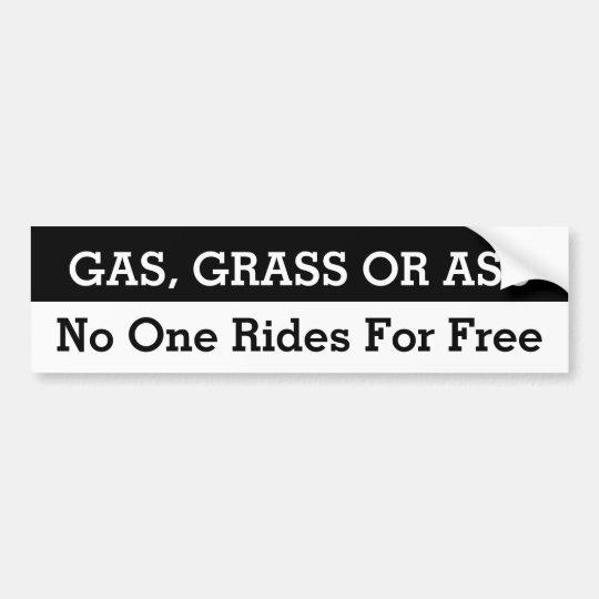Gas, hierba o asno pegatina para coche
