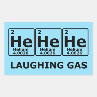 Gas hilarante pegatina rectangular