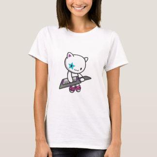 gatito 80s camiseta