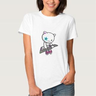 gatito 80s camisetas