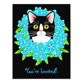 Gatito adaptable de la invitación del amante del