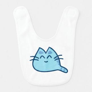 Gatito azul babero