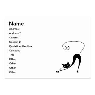 Gatito banal negro 2 tarjetas de negocios