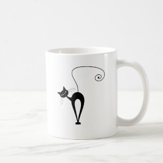 Gatito banal negro 3 taza clásica
