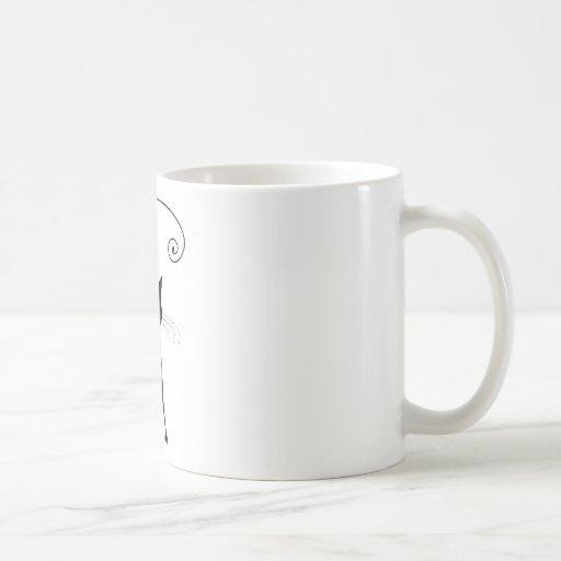 Gatito banal negro 6 tazas de café