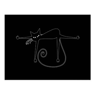 Gatito banal negro 8 postal