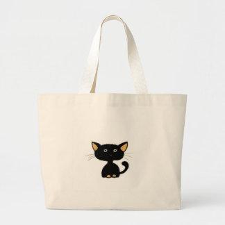 gatito bolsa tela grande