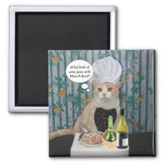 Gatito de Bubba del cocinero Imán Cuadrado
