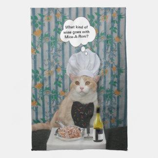 Gatito de Bubba del cocinero Toallas De Mano