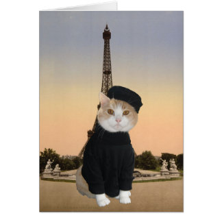 Gatito de Bubba en París Tarjeta De Felicitación