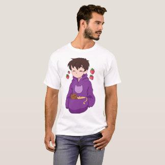 Gatito de la fresa camiseta