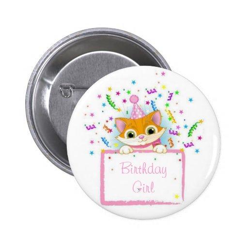 Gatito del cumpleaños pin