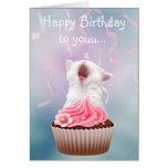 Gatito del feliz cumpleaños felicitacion