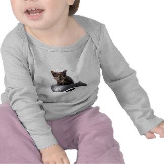 Gatito del pirata informático camisetas