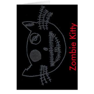Gatito del zombi tarjeta de felicitación