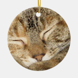Gatito el dormir adorno de navidad