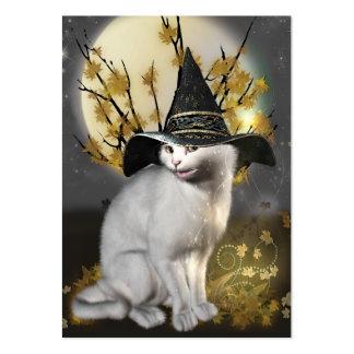 Gatito el gato mágico de las brujas tarjetas de visita grandes