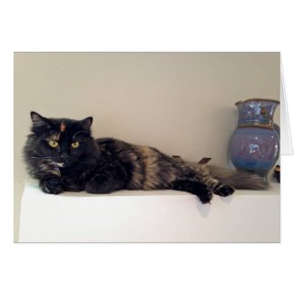 Gatito en la chimenea - gatos - mascotas tarjeta de felicitación