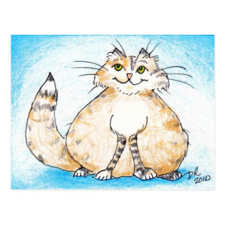 ¿Gatito gordo del gatito gordo, dónde usted ha Postal