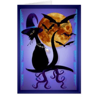 Gatito negro Bewitching Felicitación