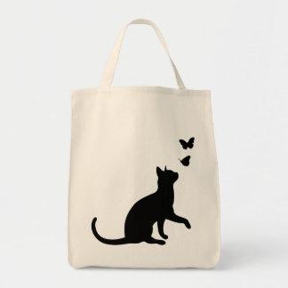 Gatito negro lindo de la silueta del gato y de la