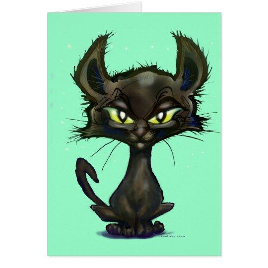 Gatito negro tarjeta de felicitación
