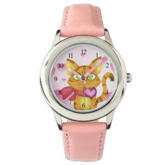 Gatito precioso reloj de pulsera