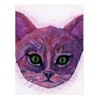 Gatito púrpura postal