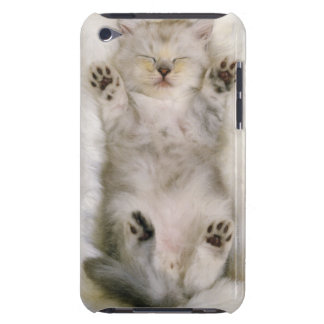 Gatito que duerme en una alfombra mullida blanca, iPod Case-Mate cárcasa