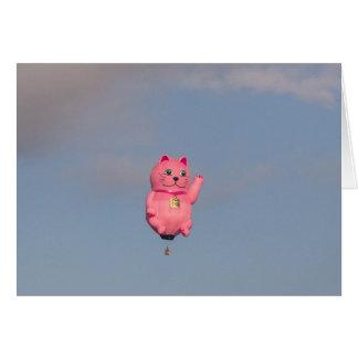 Gatito rosado tarjeta de felicitación
