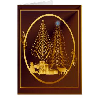 Gatitos de oro del Presente-Oro Felicitacion