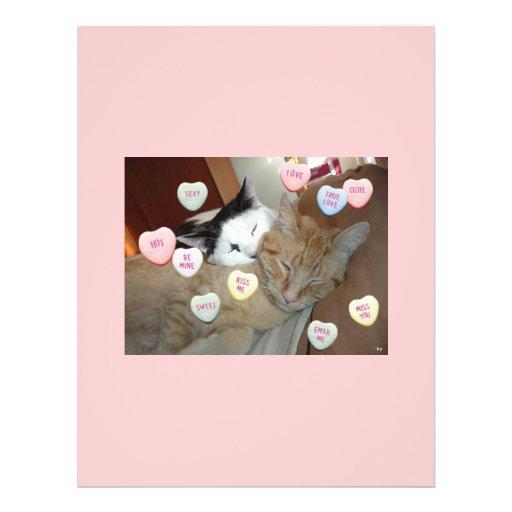 Gatitos del el día de San Valentín Tarjeta Publicitaria