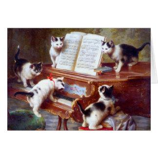 Gatitos en las llaves tarjeta
