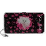 Gatitos preciosos y flores rosadas de los gatos iPhone altavoces