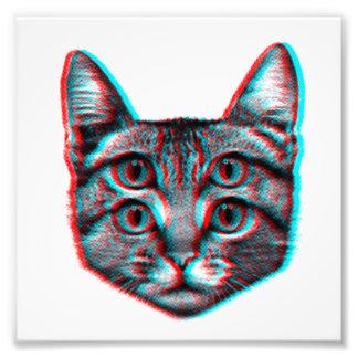 Gato 3d, 3d gato, gato blanco y negro foto