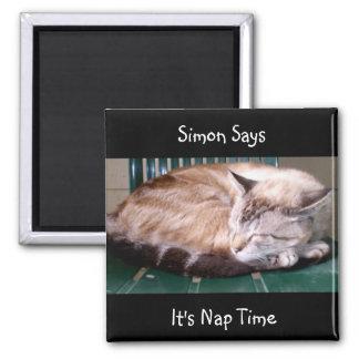 Gato 7, es tiempo de la siesta, Simon dice, imán