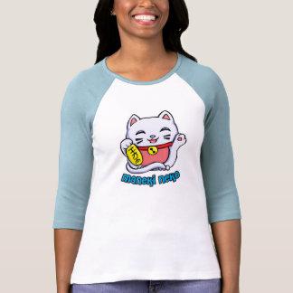 Gato afortunado de Maneki Neko Camisetas