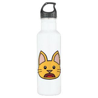 Gato anaranjado FACE0000004 01 Botella De Agua