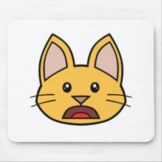 Gato anaranjado FACE0000004 Mousepad 01 Tapetes De Ratón